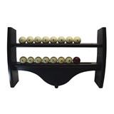 Полка для шаров навесная узкая (махагон, 4 полки, 39,5 х 60 х 10,5 см), интернет-магазин товаров для бильярда Play-billiard.ru