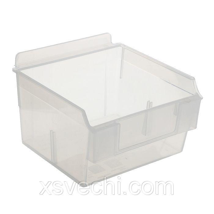 Короб пластиковый прозрачный 130*140*85мм с ценникодержателем