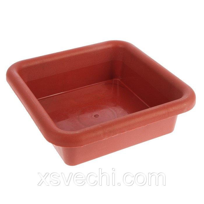 Ящик для рассады, 23.5 х 23.5 х 7 см, 3 л, терракотовый