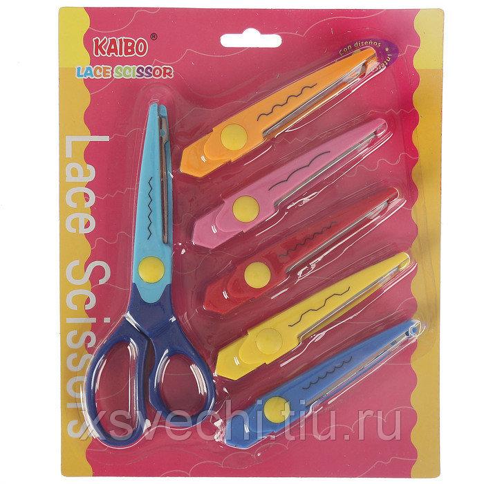 Ножницы рельефные (набор 6 шт) съёмные длина 16,5 см