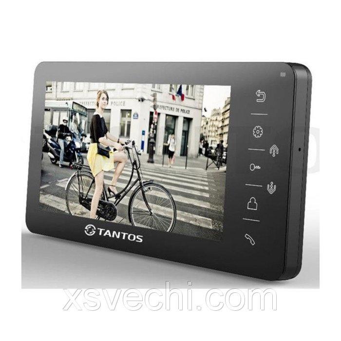 """Монитор видеодомофона Tantos Amelie (Black), 7"""", hands free, подключение видеокамер"""