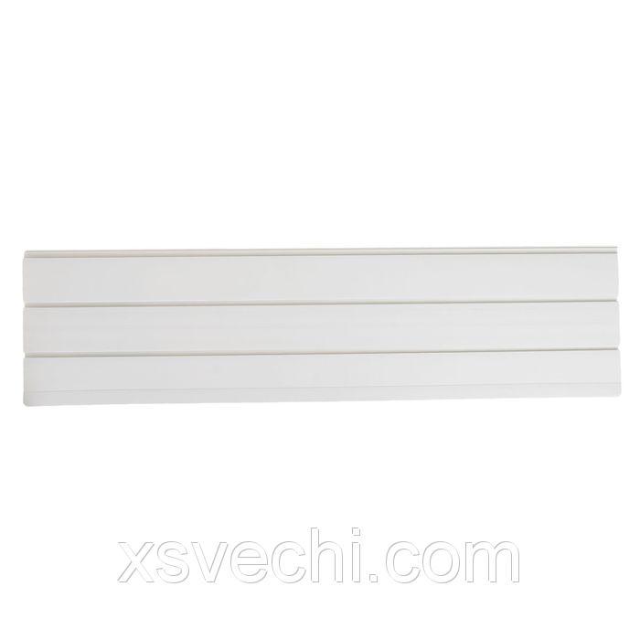 Экономпанель пластик 2 паза, 120*30 см, цвет белый
