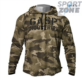 Толстовка GASP Long Sleeve Thermal Hoodi, Green Camo Print