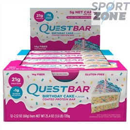 Батончик протеиновый QuestBar Birthday Cake (12 шт)