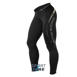 Спортивные лосины Better bodies Fitness long tight, чёрные с камуфляжем