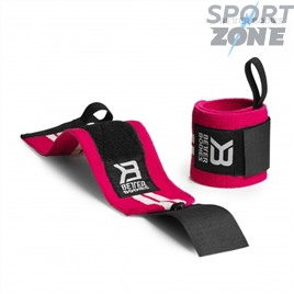 Напульсники Better Bodies Womens Wrist Wraps, Hot Pink/White