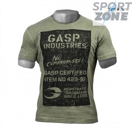 Футболка GASP Broad Street Print Tee, Wash Green