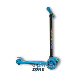 Самокат четырехколесный MAXI PU, синий