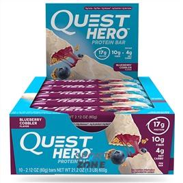 Батончик протеиновый Quest Hero Bar Blueberry Cobbler (10 бат)
