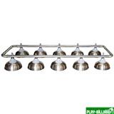Лампа на десять плафонов «Crown» (серебрянная штанга, матово-бронзовый плафон D38см), интернет-магазин товаров для бильярда Play-billiard.ru
