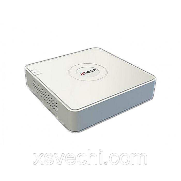 Видеорегистратор гибридный Hiwatch DS-H104G, TVI/AHD, 4 канала, 720 Р