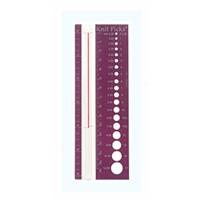 Линейка для определения диаметра спиц и плотности вязания, Knit Picks