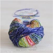 Пряжа Safari цвет сине-зеленый 02, хлопок,  118м/50гр Miss Tricot Filati