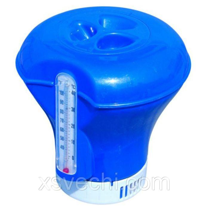 Дозатор плавающий с термометром, 18,5 см, цвета МИКС Bestway