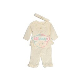Комплект для девочки - кофточка, штанишки и повязка на голову