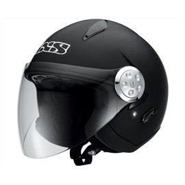 Открытый шлем со стеклом HX 137 черный матовый XL