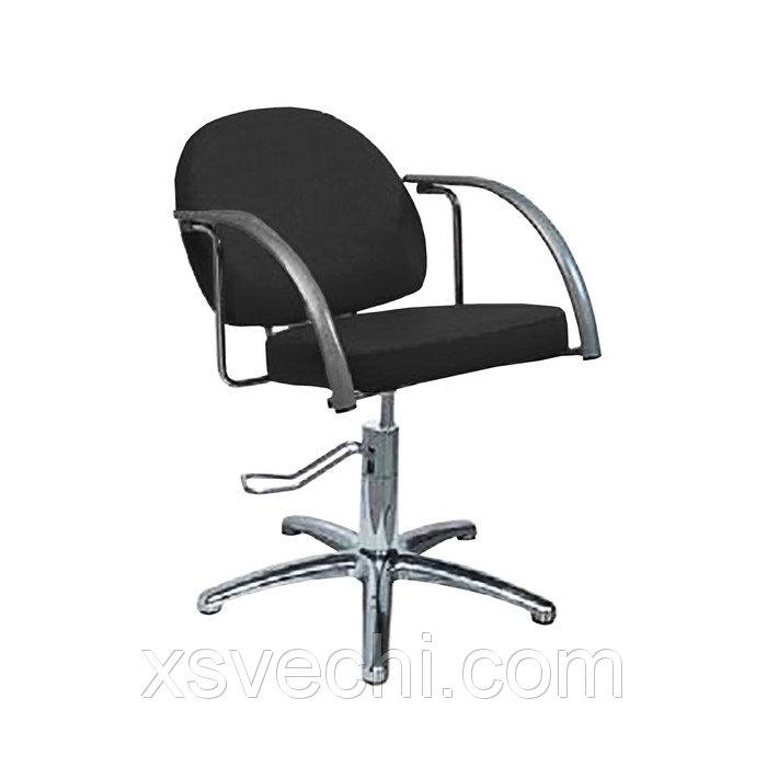 """Парикмахерское кресло """"Глория"""", гидравлический подъемник, пятилучье хром, цвет чёрный"""