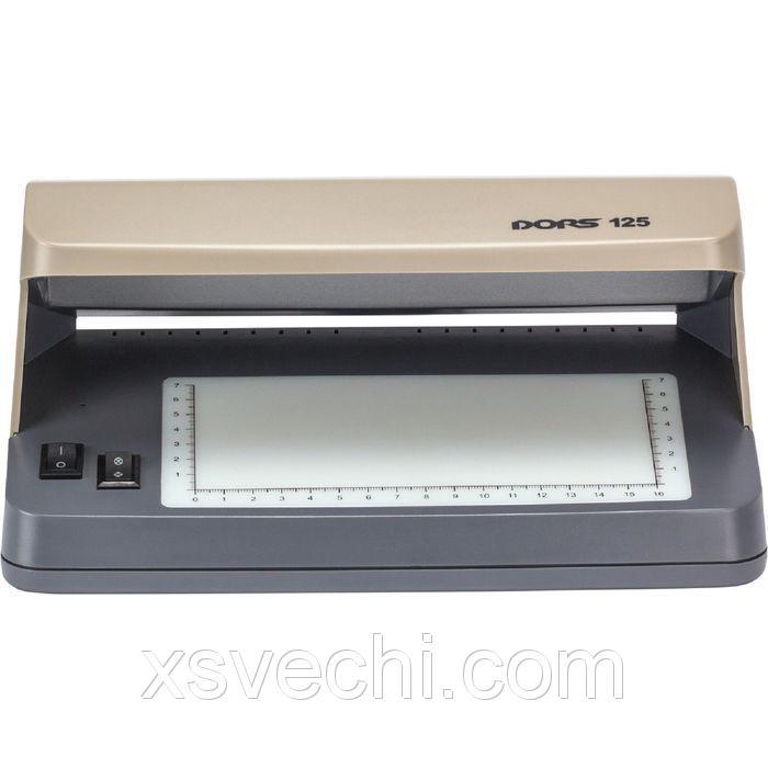 Детектор банкнот DORS 125 просмотровый ультрафиолетовый
