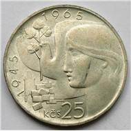 Чехословакия 25 корун 1965 г серебро Освобождение