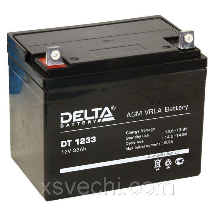 Аккумуляторная батарея Delta 33 Ач 12 Вольт DT 1233