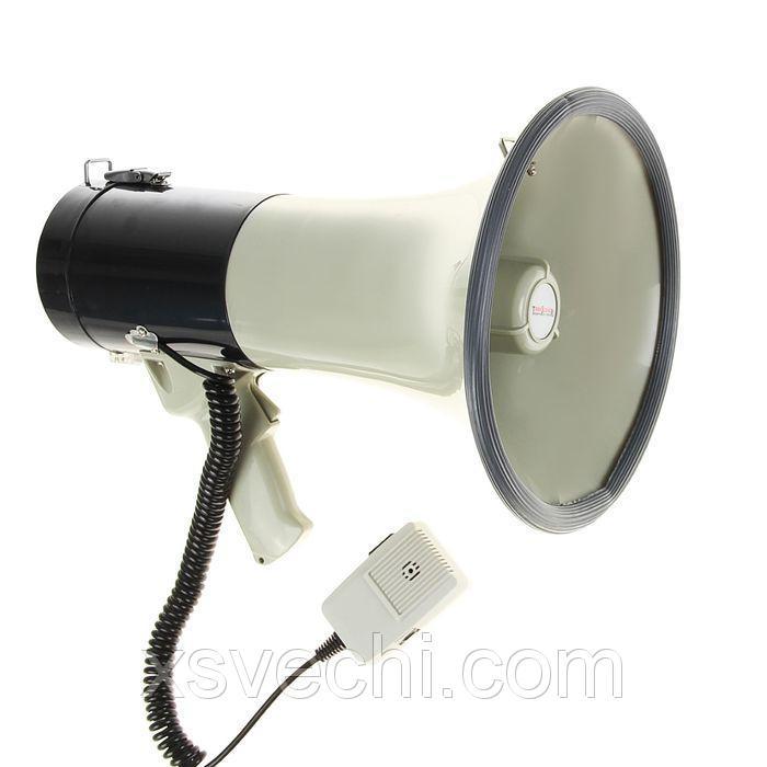 Мегафон ручной TerraSound MG-220/black, 25 Вт, сирена, разъем 12 В