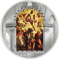 Воскресение Иисуса Тинторетто Пасха 3 унции Серебряная монета 20$ острова Кука 2016