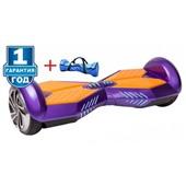 Гироскутер Smart Balance 8 дюймов Transformers LED - фиолетовый+оранж