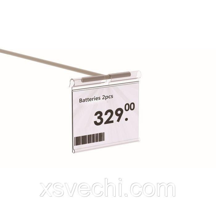 Ценникодержатель на крючок откидной 7*3,9, цвет прозрачный