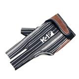 """Перчатка бильярдная """"K-1"""" (черная, серебро, вставка кожа), интернет-магазин товаров для бильярда Play-billiard.ru"""