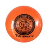 Мяч для художественной гимнастики RGB-102, 19 см, оранжевый, с блестками