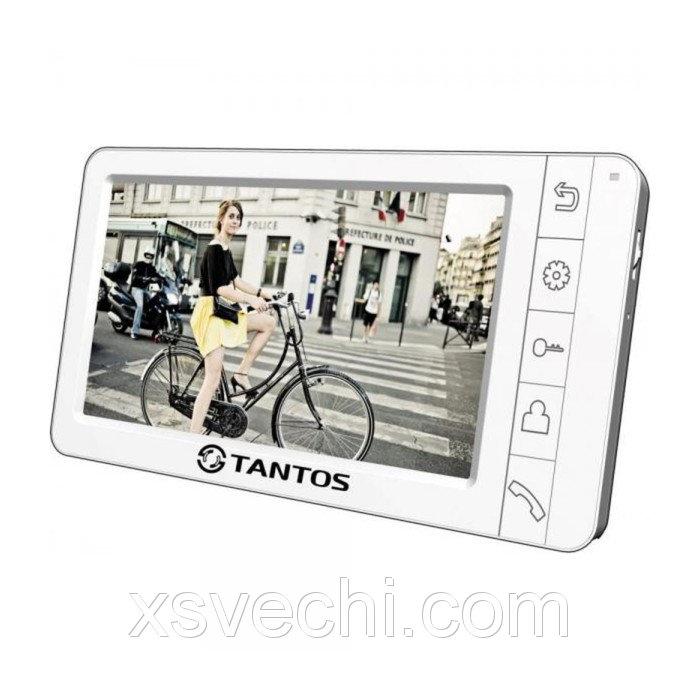 """Монитор видеодомофона Tantos Amelie VIZIT, 7"""", подключение камер, для систем Vizit, белый"""