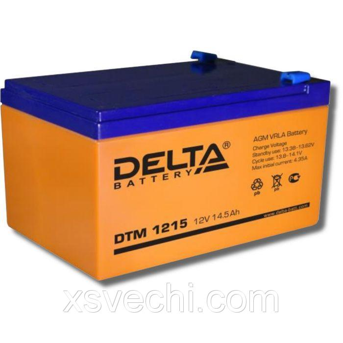 Аккумуляторная батарея Delta DTM1215, 12 В, 14.5 А/ч