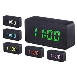 li&tai Деревянные настольные многоцветные RGB-LED часы SLT-9005A