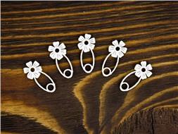 Булавочки с цветком
