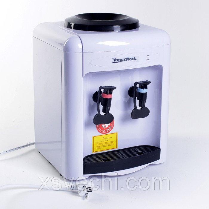 Кулер для воды AquaWork AW 0.7TD, с охлаждением, 500 Вт, белый