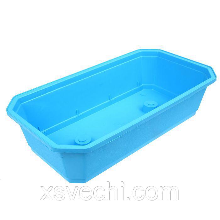 Ящик для рассады, 45 х 24 х 12 см, голубой