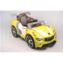 Электромобиль Maserati A222AA (кожа), жёлтый