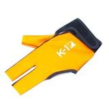 """Перчатка бильярдная """"K-1"""" (черно-оранжевая, вставка кожа), интернет-магазин товаров для бильярда Play-billiard.ru"""