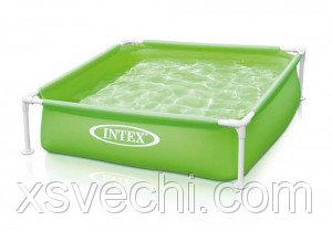 Каркасный бассейн Intex 57172, 122x122x30 см