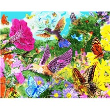 "Картина для рисования по номерам ""Бабочки и колибри"" арт. GX 5078 m"