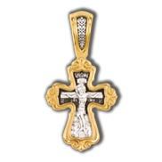 Распятие Христово. Валаамская икона Пресвятой Богородицы с предстоящими свв. Ксенией и Матроной. Православный крест.