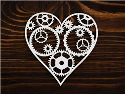 Сердце с шестеренками