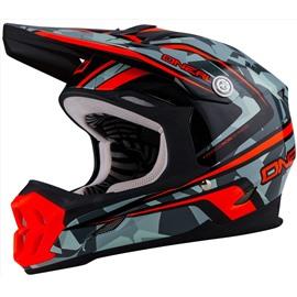 Шлем кроссовый 7Series CAMO серый/оранжевый S