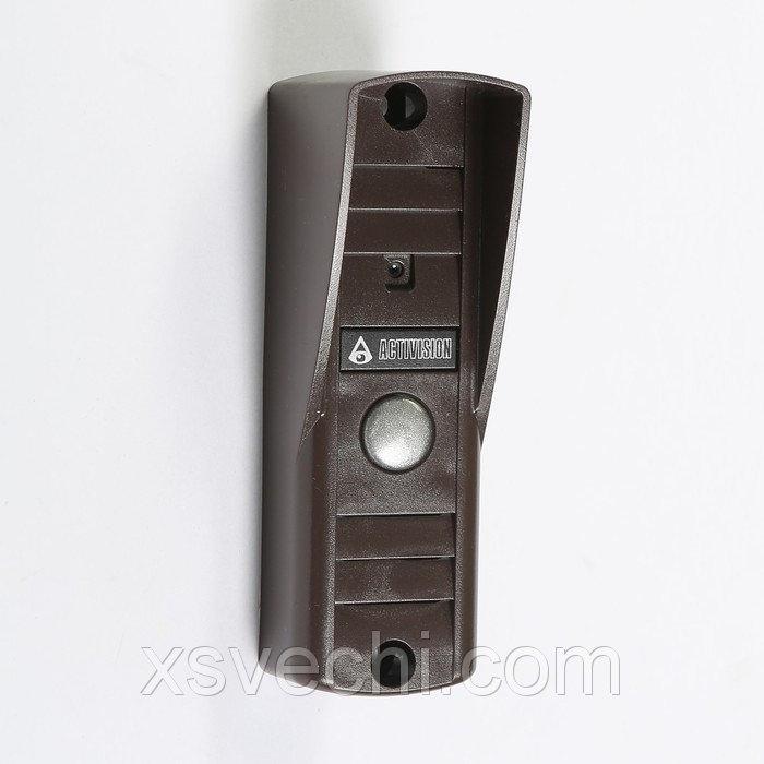 Вызывная панель Activision AVP 505, видео 420 ТВЛ, коричневая, козырек