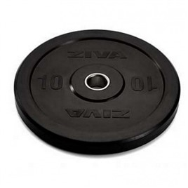 Диск бампированный ZIVA 10 кг серия Pro FЕ (резиновое покрытие) черный