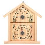 Термометр с гигрометром для бани и сауны Банная станция Домик 18023
