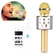 Беспроводной караоке микрофон WS-858 Золото