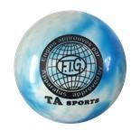 Мяч для художественной гимнастики RGB-101, 15 см, синий/белый