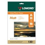 Фотобумага для струйной печати Lomond А4, 120 г/м2, 100 листов, односторонняя матовая 0102003