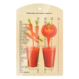 Доска разделочная Marmiton Овощной коктейль дерево 29х18,5 см 17038